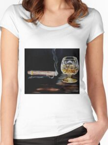 Cigar & Brandy Women's Fitted Scoop T-Shirt