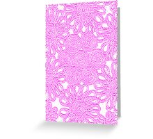 Girly Wall Flower Greeting Card