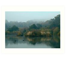 Morning, Lake Daylesford Art Print