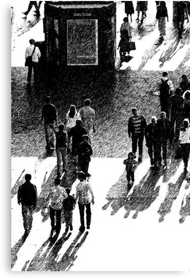 Crowd Scene Brush Stroke by Stephen Kilburn