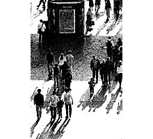 Crowd Scene Brush Stroke Photographic Print