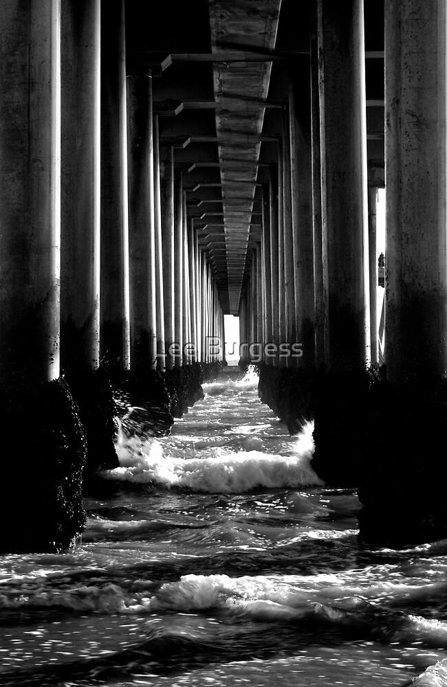 Under the pier.. by Lee Burgess