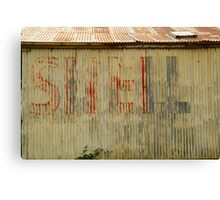 Old Workshop,Shell Signage Canvas Print