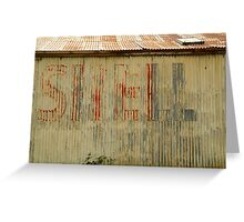 Old Workshop,Shell Signage Greeting Card