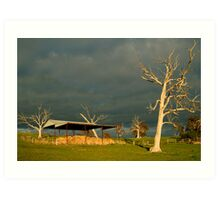 Sunrise Storm Clouds Rowsley Valley Art Print