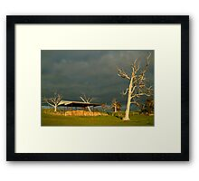Sunrise Storm Clouds Rowsley Valley Framed Print