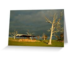 Sunrise Storm Clouds Rowsley Valley Greeting Card