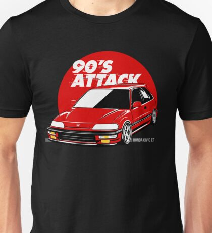 CIVIC EF 90'S ATTACK Unisex T-Shirt