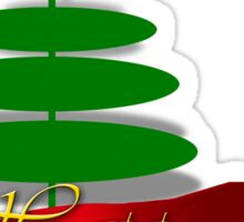 Christmas Tree with Red Ribbon Sticker