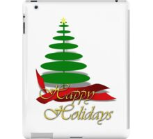 Christmas Tree with Red Ribbon iPad Case/Skin