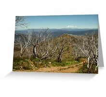 View from Mt Blue Rag,High Country Greeting Card