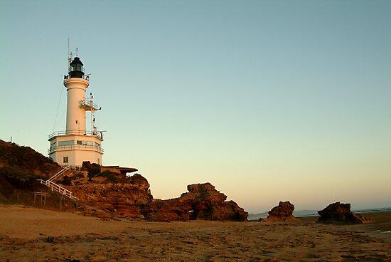 Dusk Pt Lonsdale Lighthouse by Joe Mortelliti