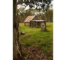 Davies High Plains Hut Hugh Country Photographic Print