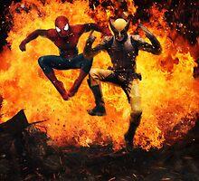 Marvel Team-Up: Spider Man & Wolverine by dmorson