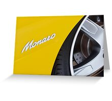 Yellow Holden Monaro Greeting Card