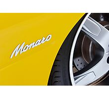 Yellow Holden Monaro Photographic Print