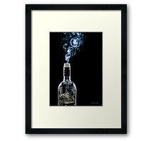 Smokin' Vodka Framed Print
