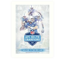 2013 AFC South Champions - Indianapolis Colts Art Print