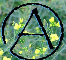 Atheist Symbol with Flowers by Michelle Albert