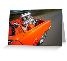 Orange Holden HG Monaro GTS rig shot Greeting Card
