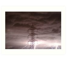 Lightning Storm,Grovedale Geelong Art Print