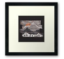 Into the Grey... Framed Print