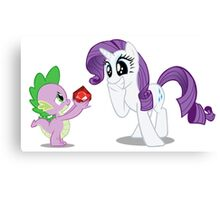 Rarity and Spike Canvas Print