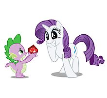 Rarity and Spike Photographic Print