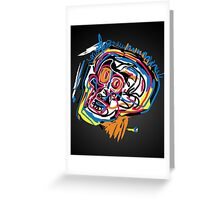 Jean Michel Basquiat Head Greeting Card