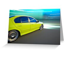 Ford BA XR6 at night Greeting Card