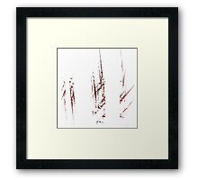 Traces and spaces Framed Print