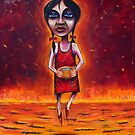 """Summer"" (Red Dust Girl series) Oil on Canvas by Leith"