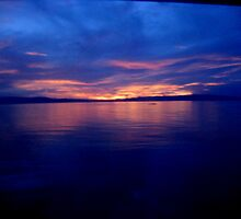 Sunset towards Cebu by jpmc