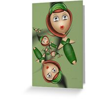Inner Child - Spring Ball for Redheads Only Greeting Card