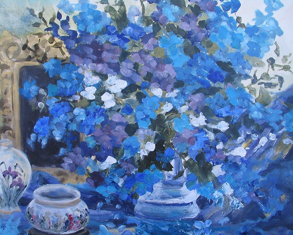 Delphiniums by Diana Cole