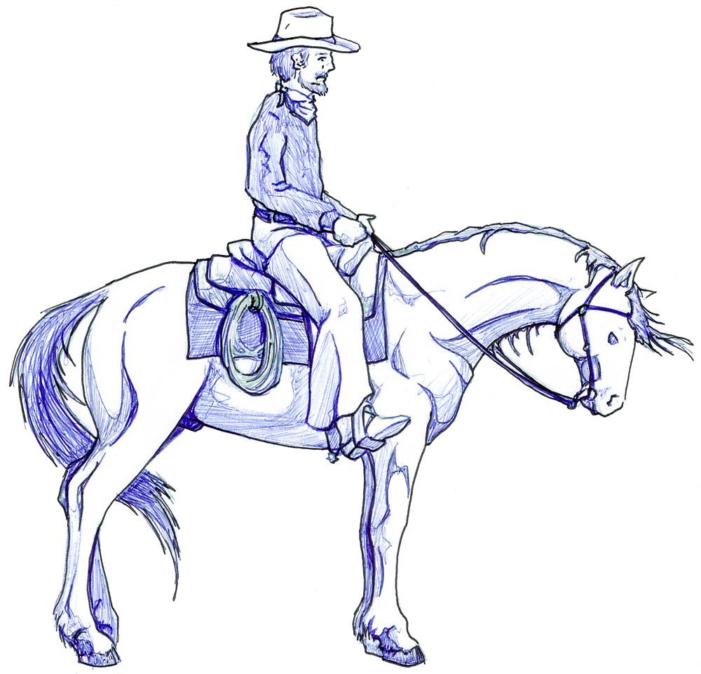 Blue Cowboy by wyvex