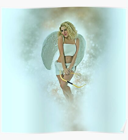 Cupid (Greek Eros) the god of desire, affection and erotic love  Poster