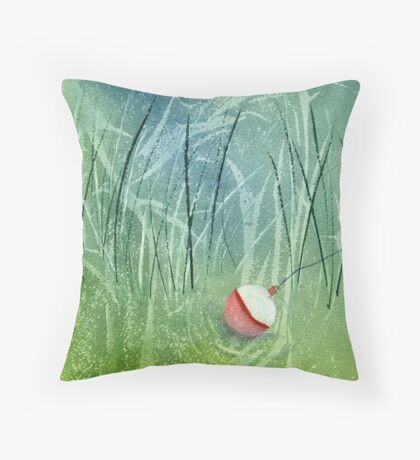 The perfect day- Fishing! Throw Pillow