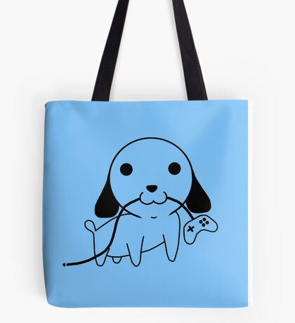 Gamepad Puppy Tote Bag