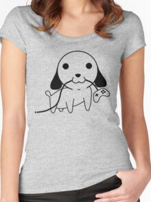 Gamepad Puppy Women's Fitted Scoop T-Shirt