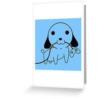 Gamepad Puppy Greeting Card