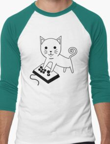 Arcade Kitten Men's Baseball ¾ T-Shirt