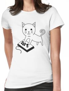 Arcade Kitten Womens Fitted T-Shirt