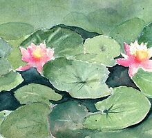 Water Lilies by Diane Hall