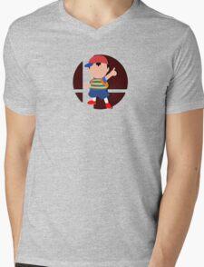 Smash Bros: Ness Mens V-Neck T-Shirt