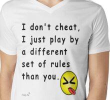 I Don't Cheat Mens V-Neck T-Shirt