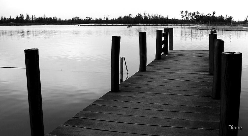 Peaceful Wharf by Diane