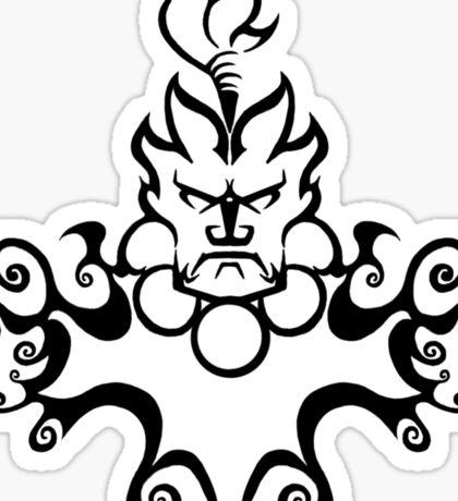 The Floating Demon Sticker