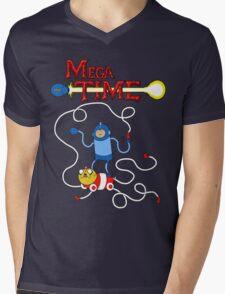 MEGA TIME! Mens V-Neck T-Shirt