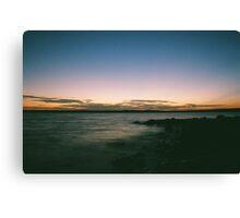 Benbrook Lake sunset- Long exposure Canvas Print